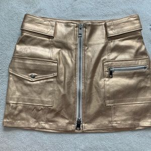 Urban Outfitters Rose Gold Mini Skirt Size M